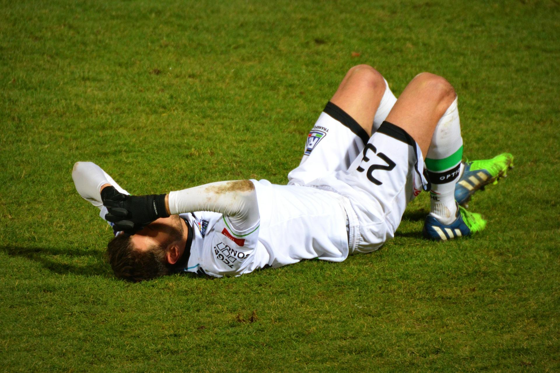 Fussball-Verletzung